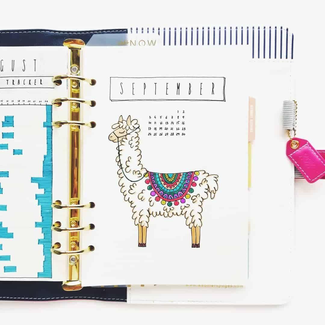 Llama inspired bullet journal ideas | My Inner Creative