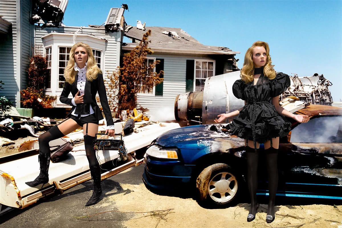 life in pics editorials shoes portfolio heather marks and anja rubik by david lachapelle. Black Bedroom Furniture Sets. Home Design Ideas