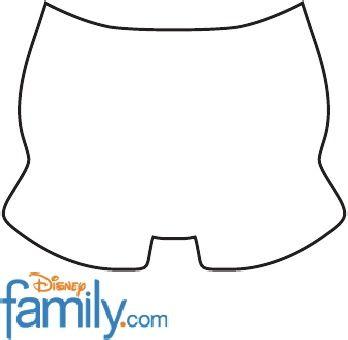Molde Shorts Do Mickey Mais