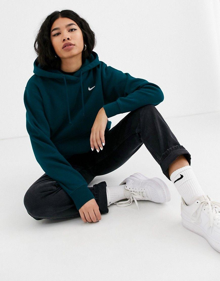 Nike Nike Dark Blue Mini Swoosh Oversized Hoodie Nike Cloth Nike Hoodies For Women Nike Hoodie Outfit Oversize Hoodie [ 1110 x 870 Pixel ]