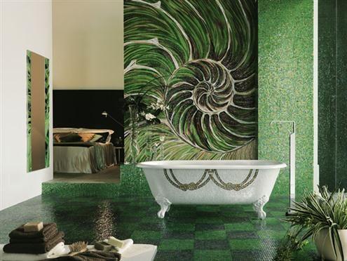 fotos de diseno de banos con mosaicos1 Mosaicos baños Pinterest - baos con mosaicos