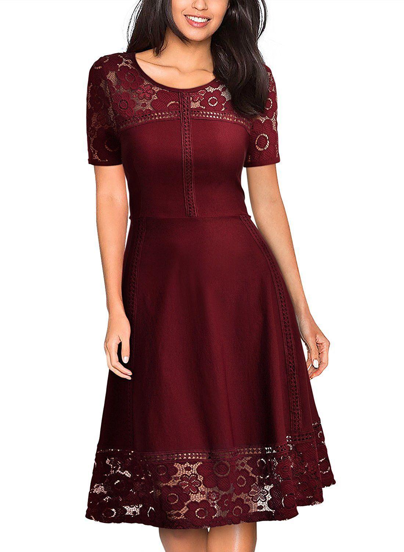 Amazon Com Missmay Women S Vintage 1950s Floral Lace