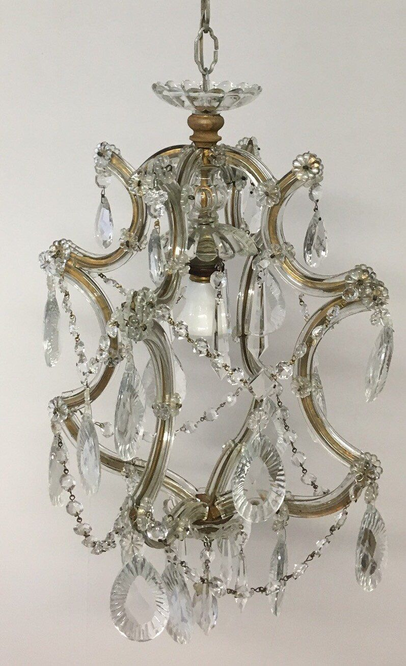 Vintage Chandelier Crystal Chandelier Maria Theresa Chandelier - Old chandelier crystals
