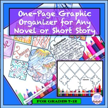 Graphic Organizer for ANY Novel or Short Story, fiction