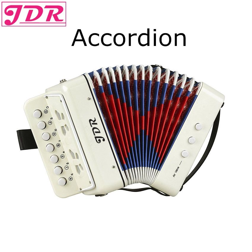 """Universe of goods Buy """"JDR 7 Keys Button White Accordion"""