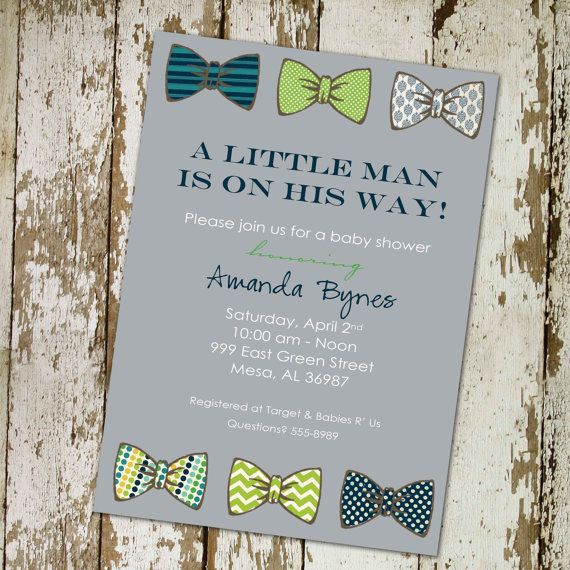 Baby boy shower invitation with bow ties little gentleman theme baby boy shower invitation with bow ties little gentleman theme digital printable file filmwisefo Choice Image