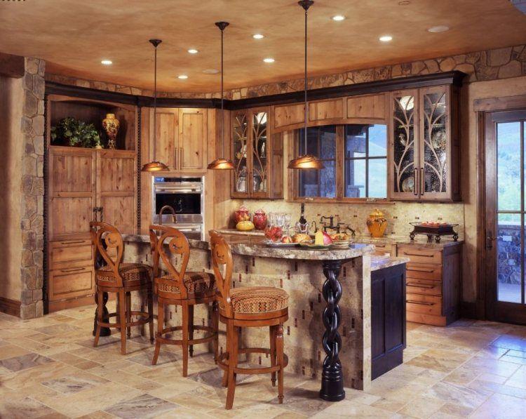 Id e cuisine 30 id es de d co dans le style champ tre - Refaire sa cuisine rustique en moderne ...