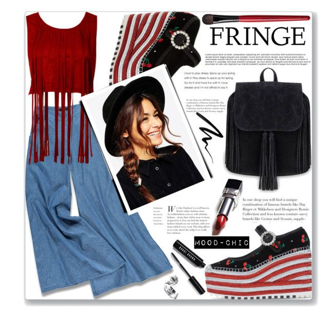 """""""Fringe fun"""" by mood-chic ❤ liked on Polyvore featuring Forever 21, Marc by Marc Jacobs, Marc Jacobs, ASOS, Bobbi Brown Cosmetics, Smashbox, Eyeko and fringe"""