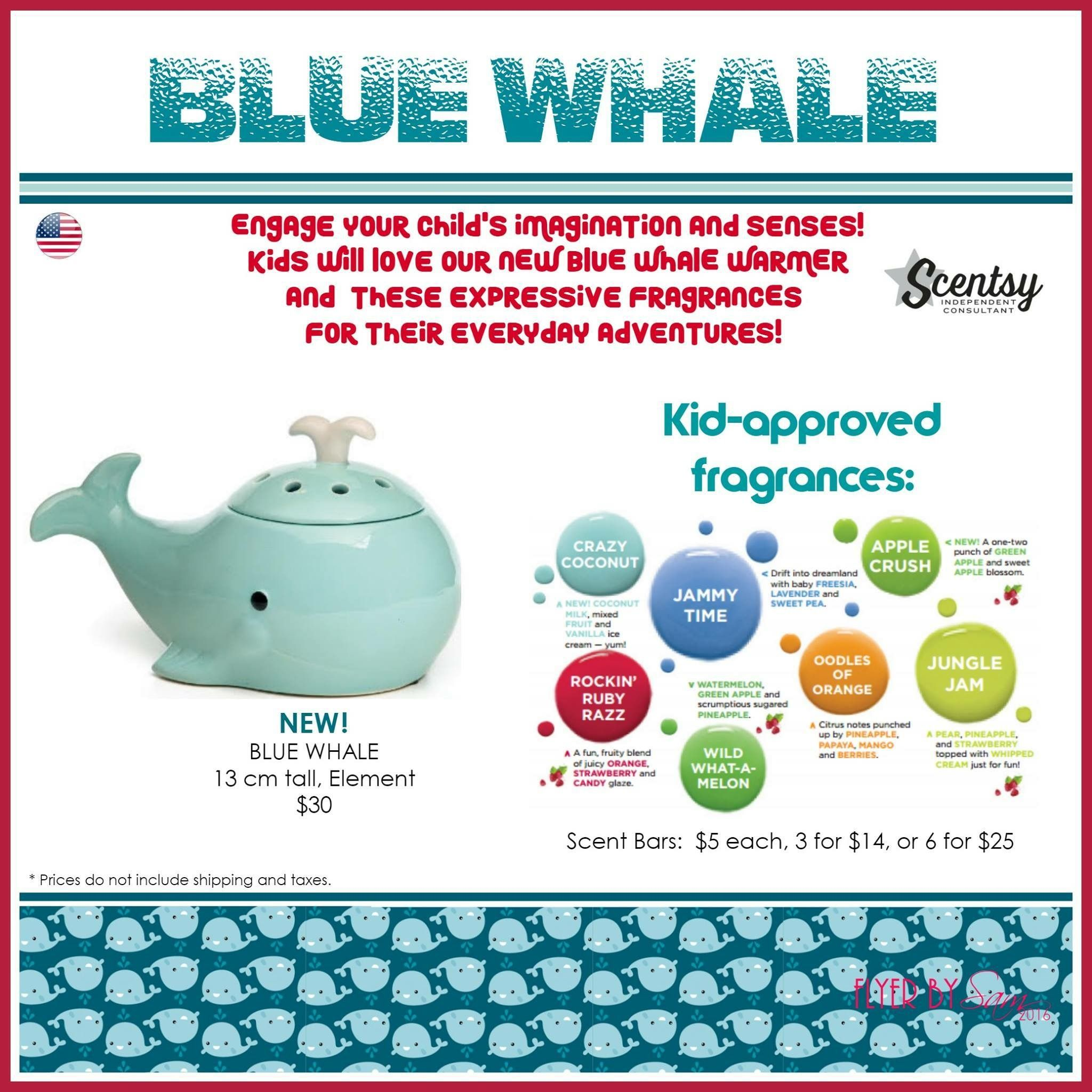 blue whale scentsy warmer and kids collection scents scentsy