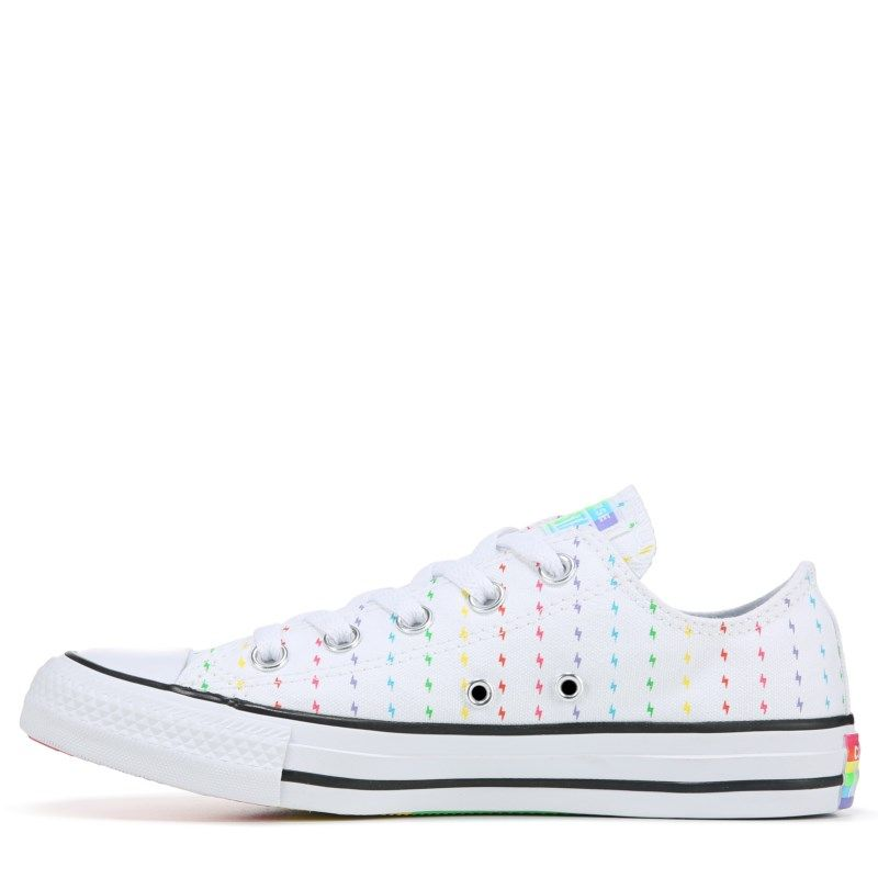 Converse Chuck Taylor All Star Low Top Pride Sneakers (White/Rainbow) #whiteallstars