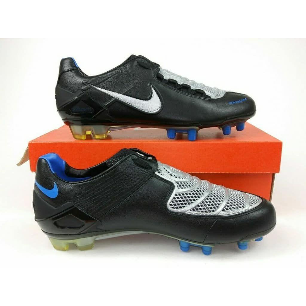 Nike Mens TOTAL 90 Football Boots BlackWhite sz 12 Soccer