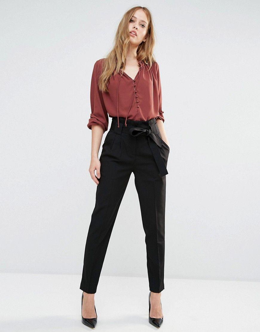 Paper bag trousers - Image 4 Of Y A S Tudor Paper Bag Pants