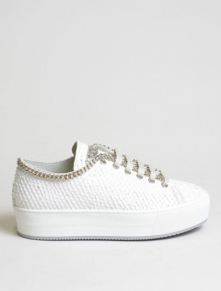 Stokton Sneakers Pitone Panna, Sneakers Donna, spedizione gratuita italia