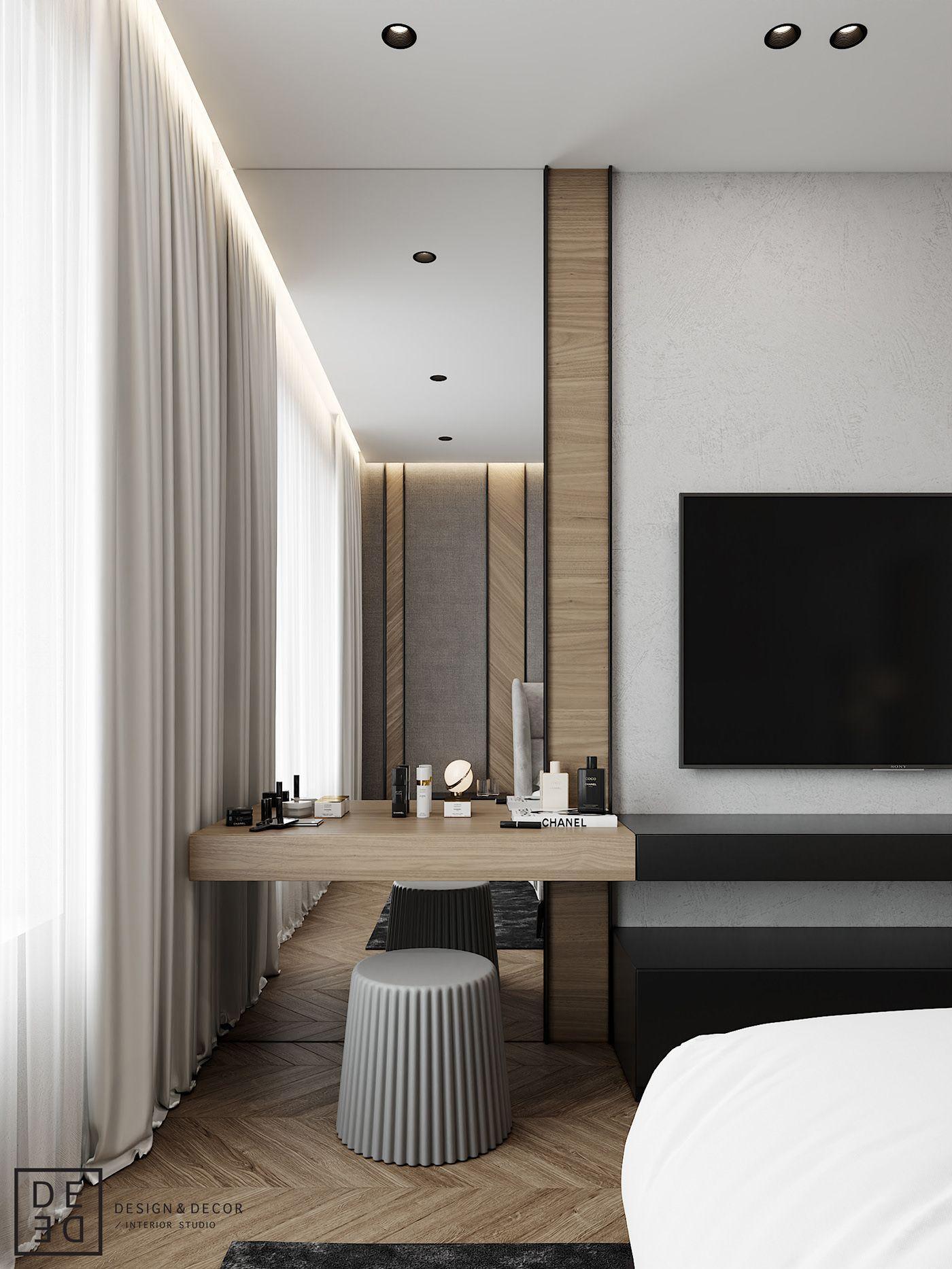 DE&DE/Eco minimalism apartment on Behance Hotel room