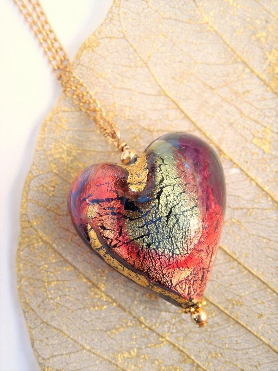 Murano glass heart murano heart pendant by barbarasophiajewelry murano glass heart murano heart pendant by barbarasophiajewelry mozeypictures Image collections