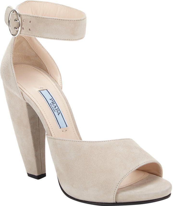 07dfc8fd40c Prada Banana-heel Ankle-strap Sandal on shopstyle.com