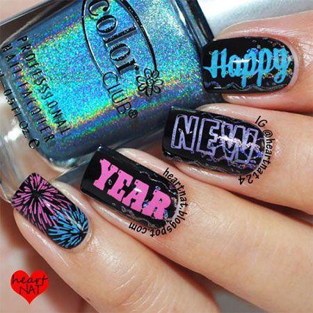 Happy New Year Eve Nail Art
