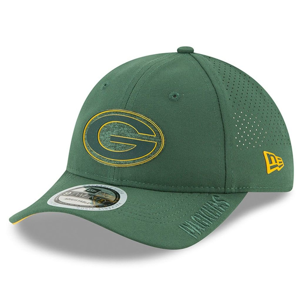 Youth New Era Green Green Bay Packers 2018 Training Camp Primary 9twenty Adjustable Hat Size One Size Pkr Green New Era
