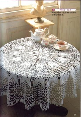 Picasa Albums Web Toalha De Mesa Croche Toalha Redonda De Croche Caminho De Mesa De Croche