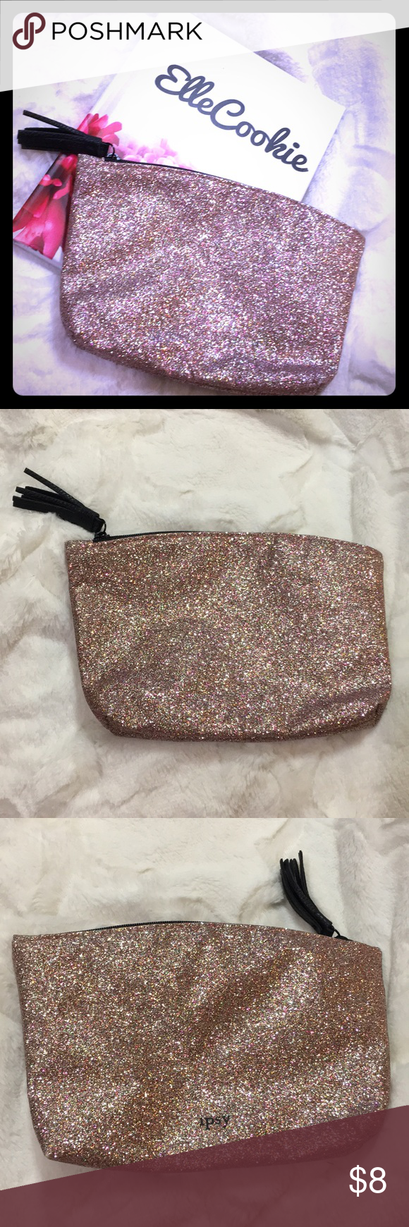 IPSY Pink Glittery Makeup Bag NWT (With images) Makeup
