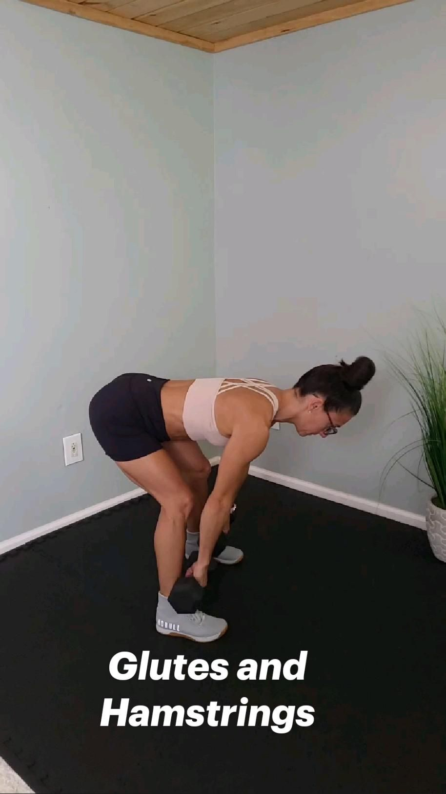 Lower Body Workout with weights to build strength and muscle in your glutes and hamstrings
