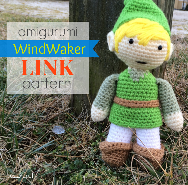 Make Your Own Amigurumi Link, Wind Waker Style!  Just B Crafty~ ~ my all time favorite games are the Zelda series so I couldn't resist this Link