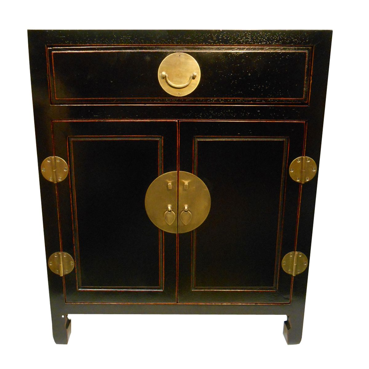 Oriental Ming End Table In Ebony Finish Tables