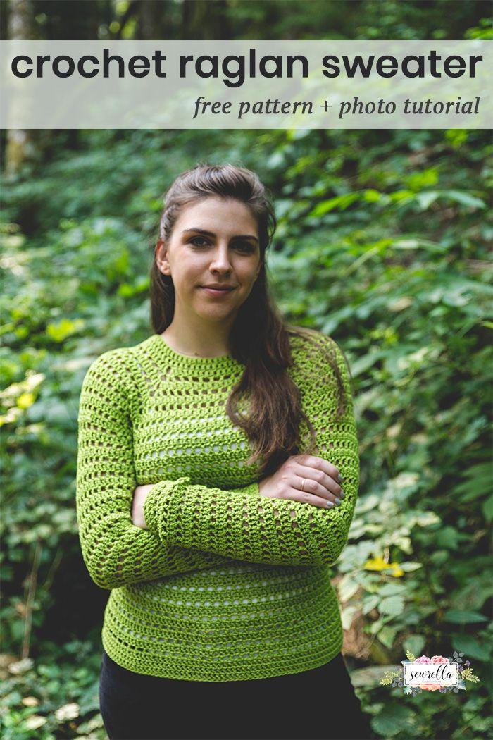 Easy Pullover Sweater Free Crochet Pattern Sewrella Pinterest