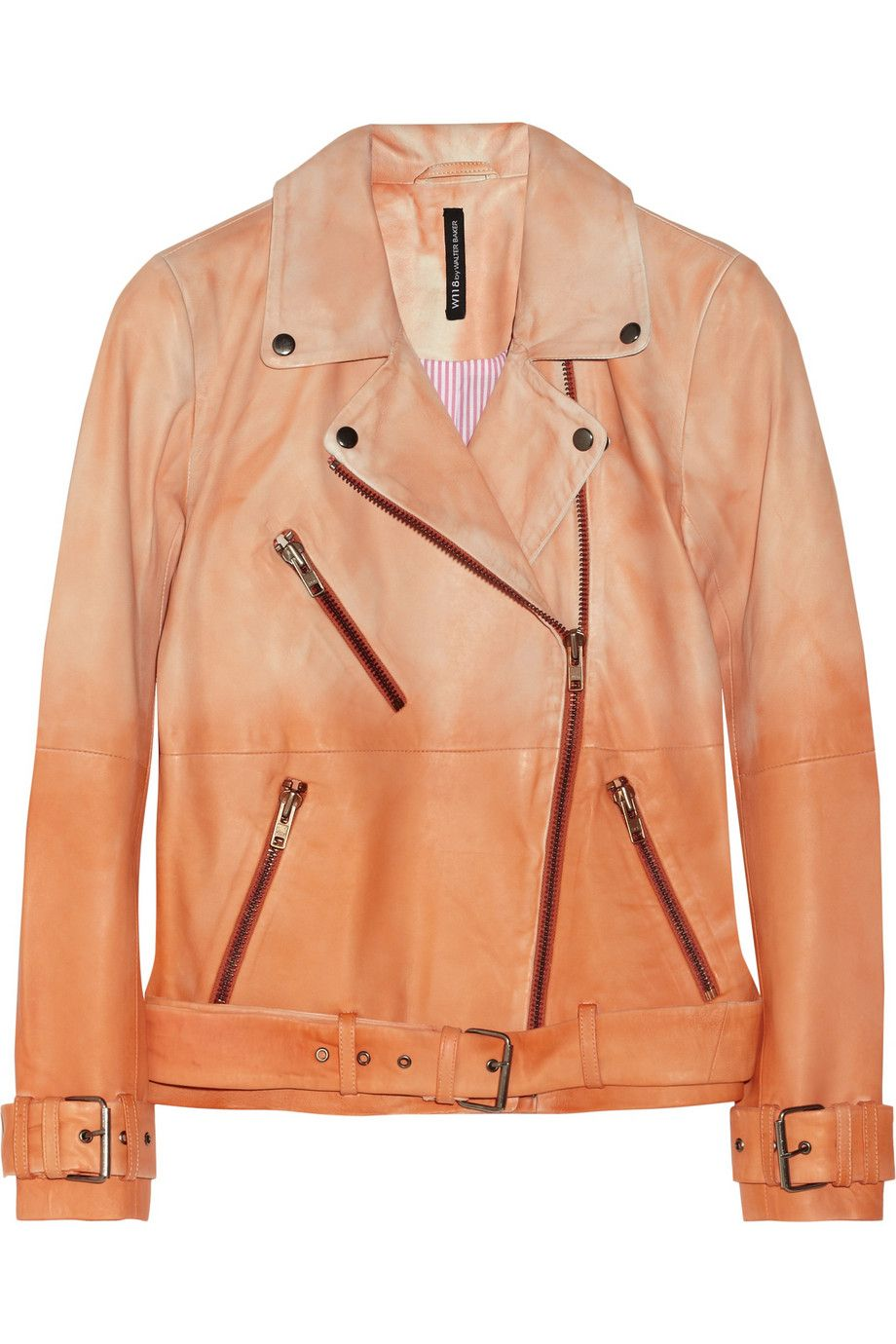 W118 by Walter Baker Evan dégradé leather biker jacket