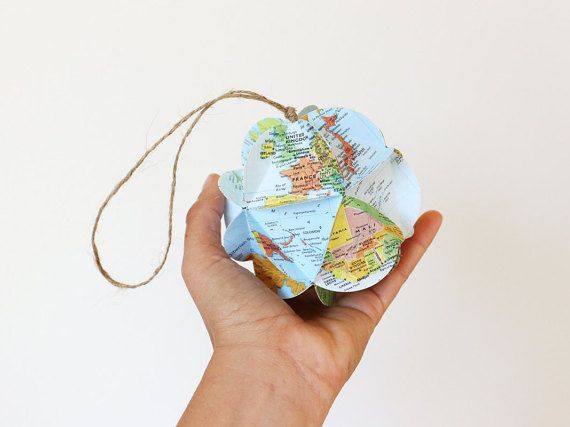 Diy map ornament kit make your own ornament from world maps diy map ornament kit make your own ornament from world maps christmas stocking stuffer holiday gift solutioingenieria Gallery
