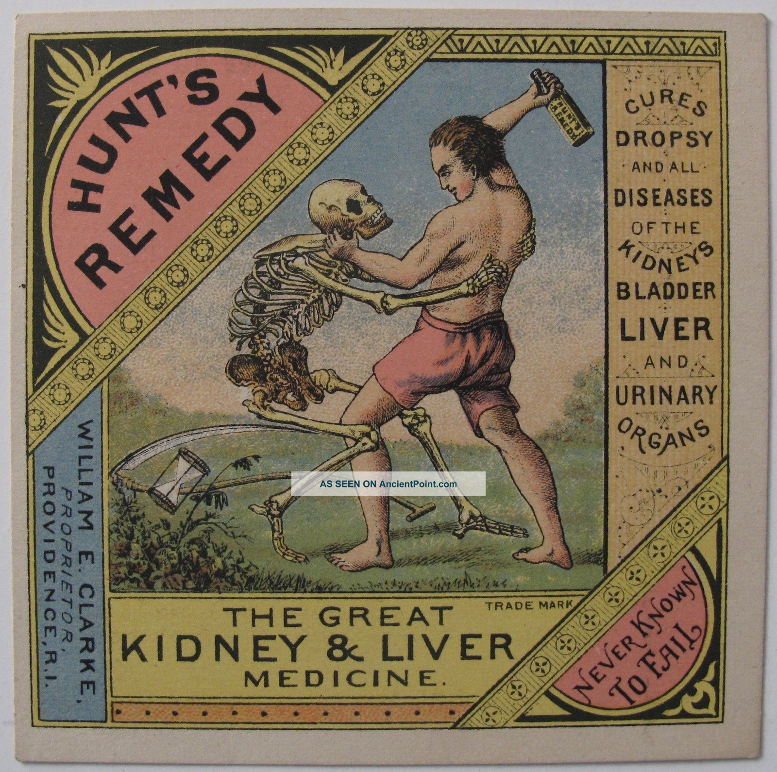 hunts remedy grim reaper skeleton kidney cure advertising mogadonia upthecountry victorian trade card hunt s remedy patent medicine miami university ohio libraries digital collections excellent collection