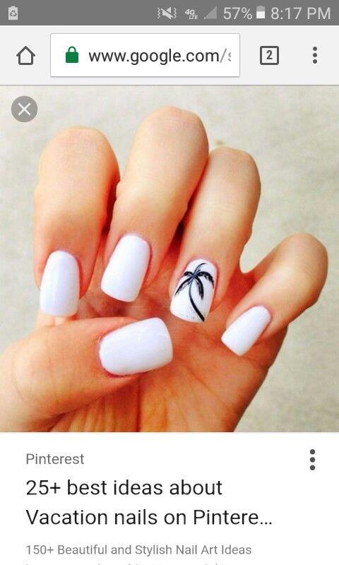 Pin de tori tate en Vacation nails | Pinterest | Diseños de uñas ...