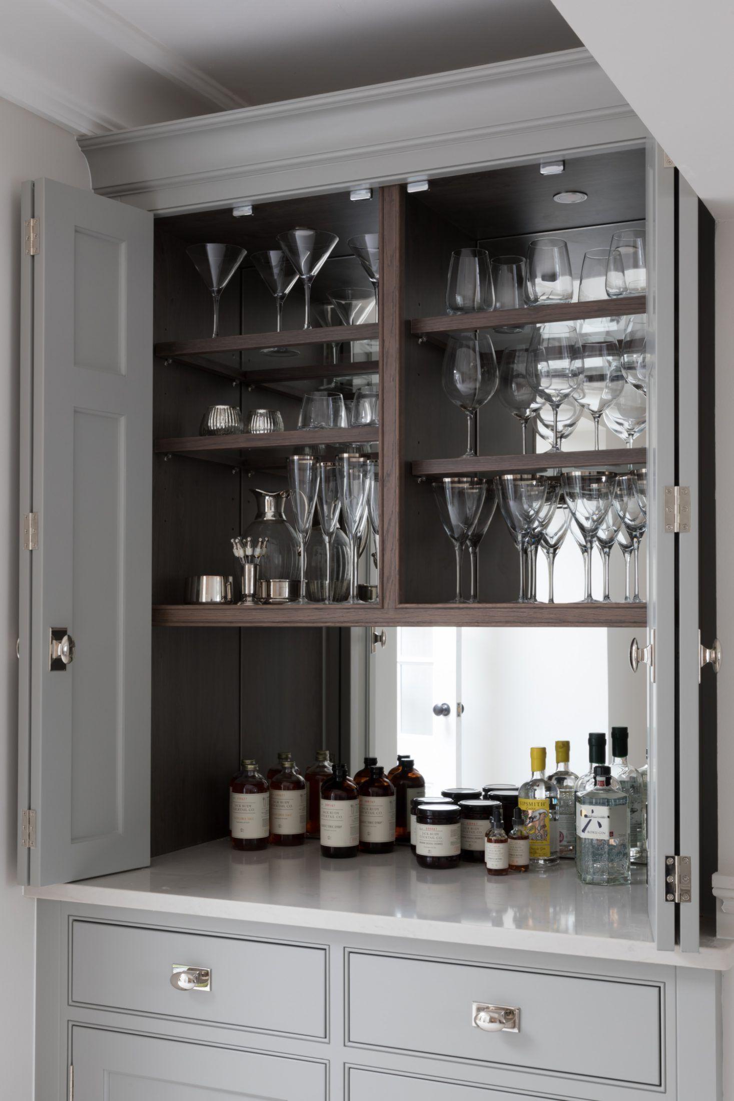 Contemporary Drinks Cabinet Humphrey Munson Open Plan Kitchen