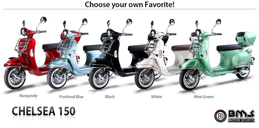 150cc Bms Chelsea Scooter Gas Scooters For Sale 150cc Scooter