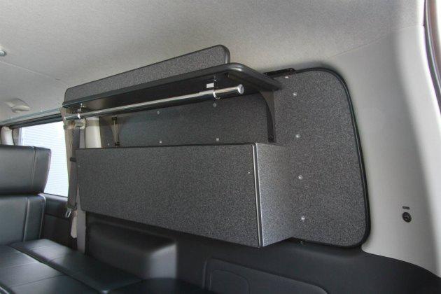フルオーダー製作したesウィンドウパネル専用収納ボックス トランポ