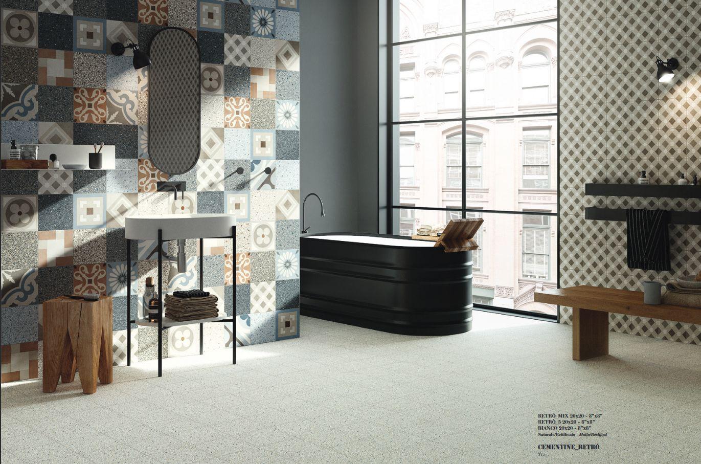 Ispirazione per bagno con cementine ceramica fioranese bathrooms