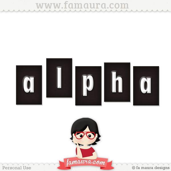 Alpha - Kit - Docuras ou Travessuras by Fa Maura