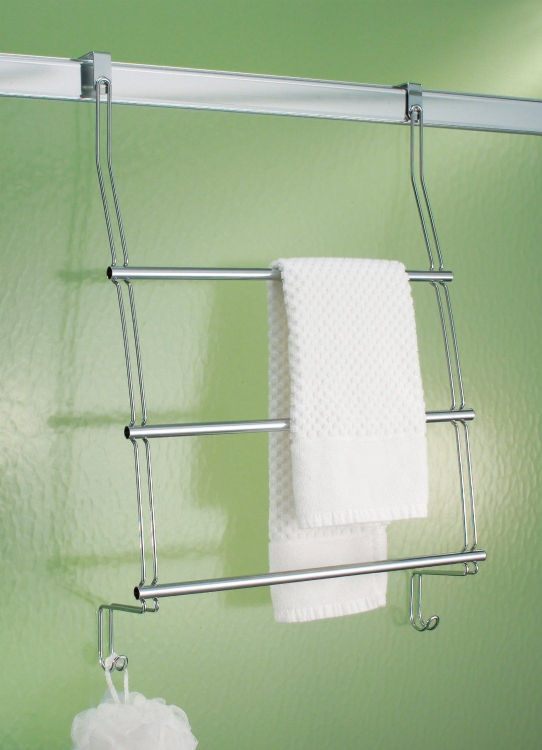 Interdesign 69110 Clico Over The Shower Door Towel Rack Keep Towels And Other Necessities Nearby With This Hanging Storage