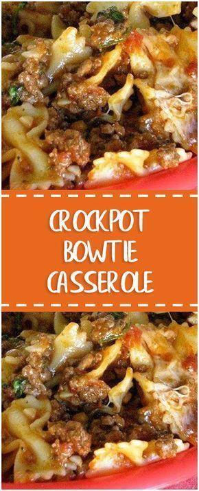 Crock pot bowtie casserole. #crockpotmeals