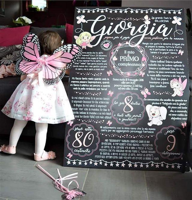 """""""Mi piace"""": 56, commenti: 1 - @lavagnettiamo su Instagram: """"Oggi è la volta della farfallosissima Giorgia!!!! Ma riuscite a scoprire da cosa si è vestita a…"""""""
