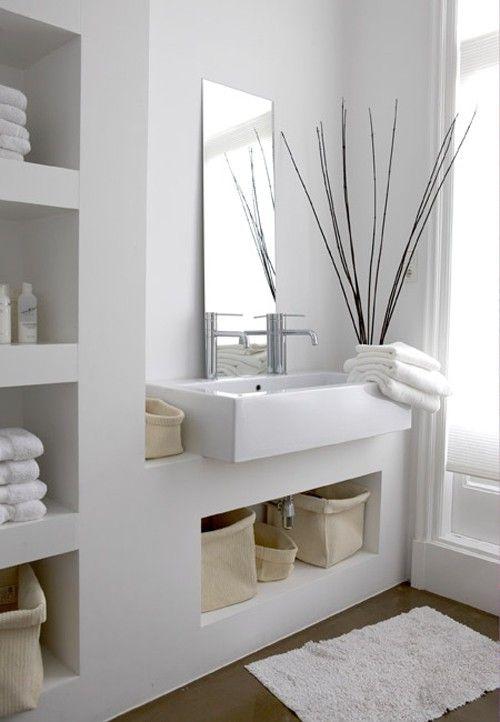 Modern Bathroom Design Ideas   White white, Shelves and Interiors