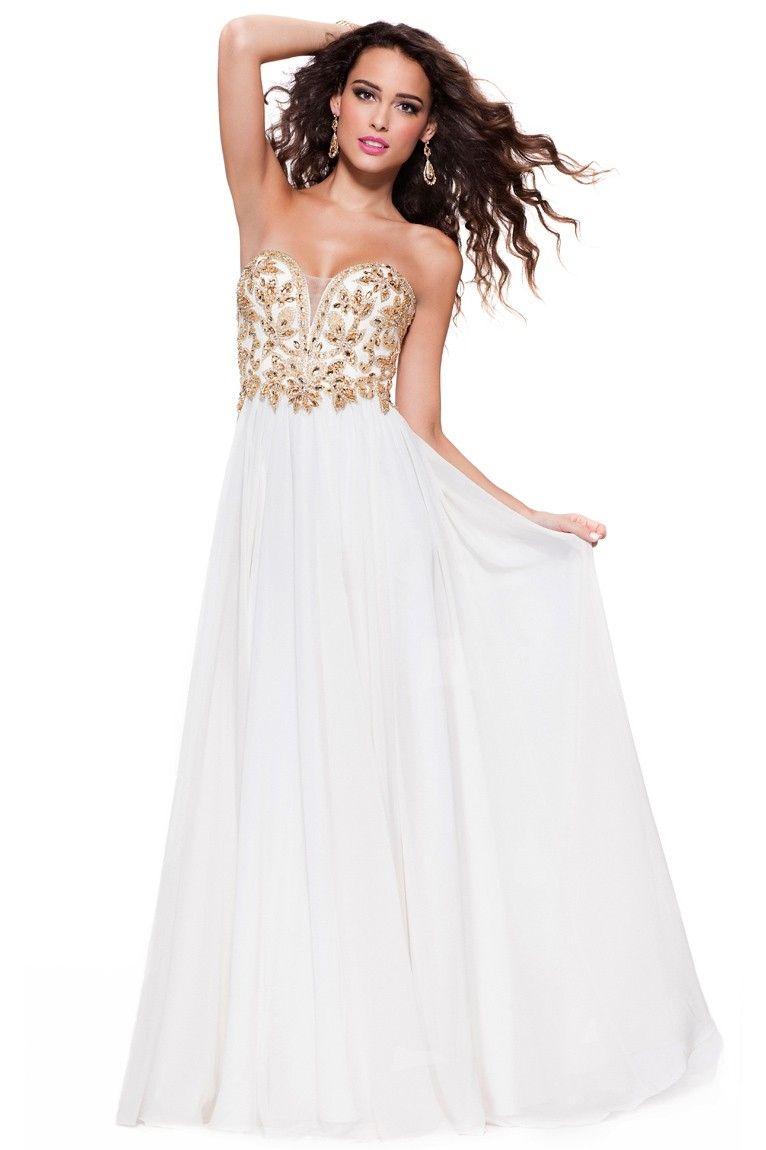 Beautiful long white prom dress prom dresses pinterest prom