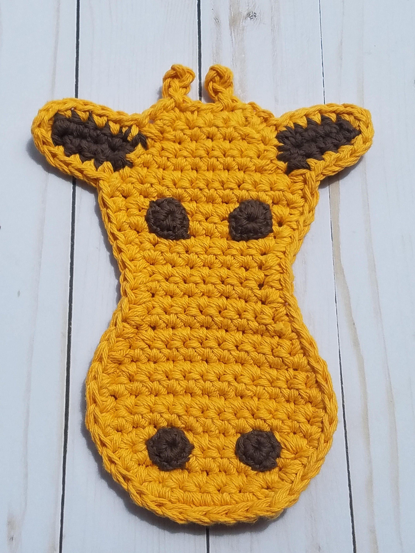 Giraffe potholder crochet pattern giraffe hot pad