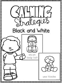 Here are 18 Calming Strategy Posters to hang, color or