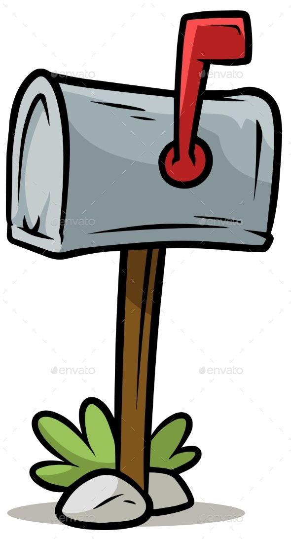 Cartoon Silver Mailbox Vector Icon Box Art Address Art Mailbox
