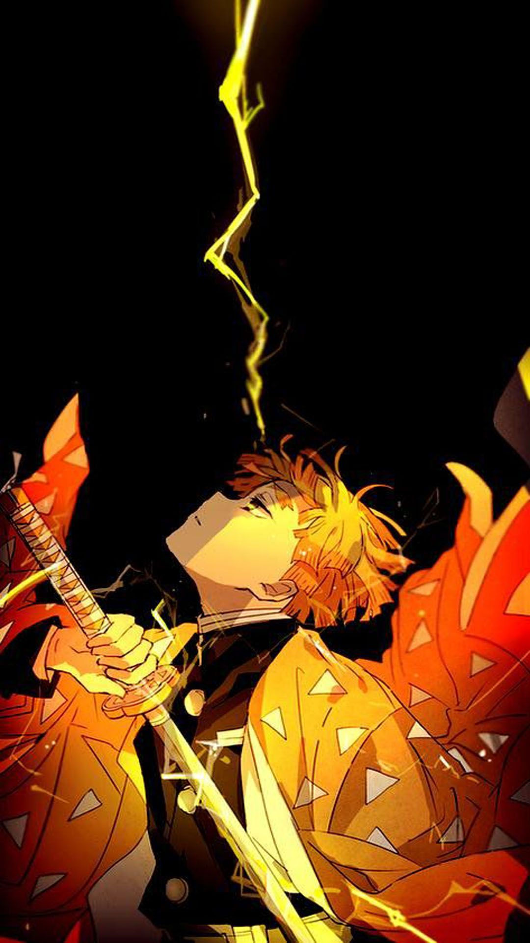 Agatsuma Zenitsu Mobile Wallpaper In 2020 Anime Demon Anime Wallpaper Slayer Anime