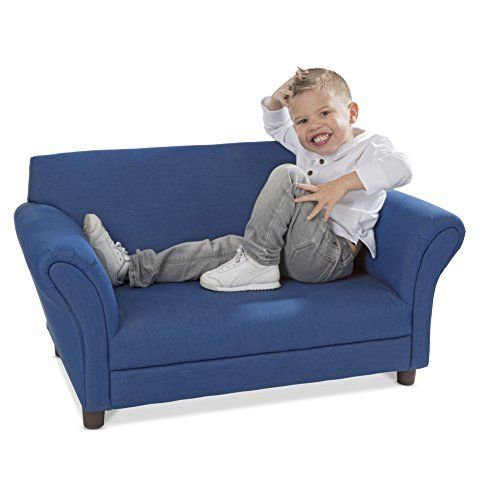 Melissa Doug Childs Sofa Denim Childrens Furniture Kids Sofa