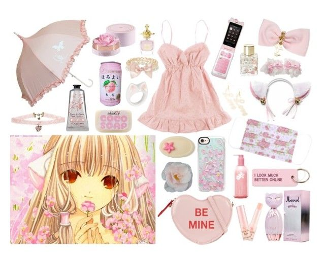 """chiic"" by riverspirits ❤ liked on Polyvore featuring Hello Kitty, Lancôme, Various Projects, Casetify, ALDO, Accessorize, Etude House, Nach, Vivienne Westwood and Lollia"