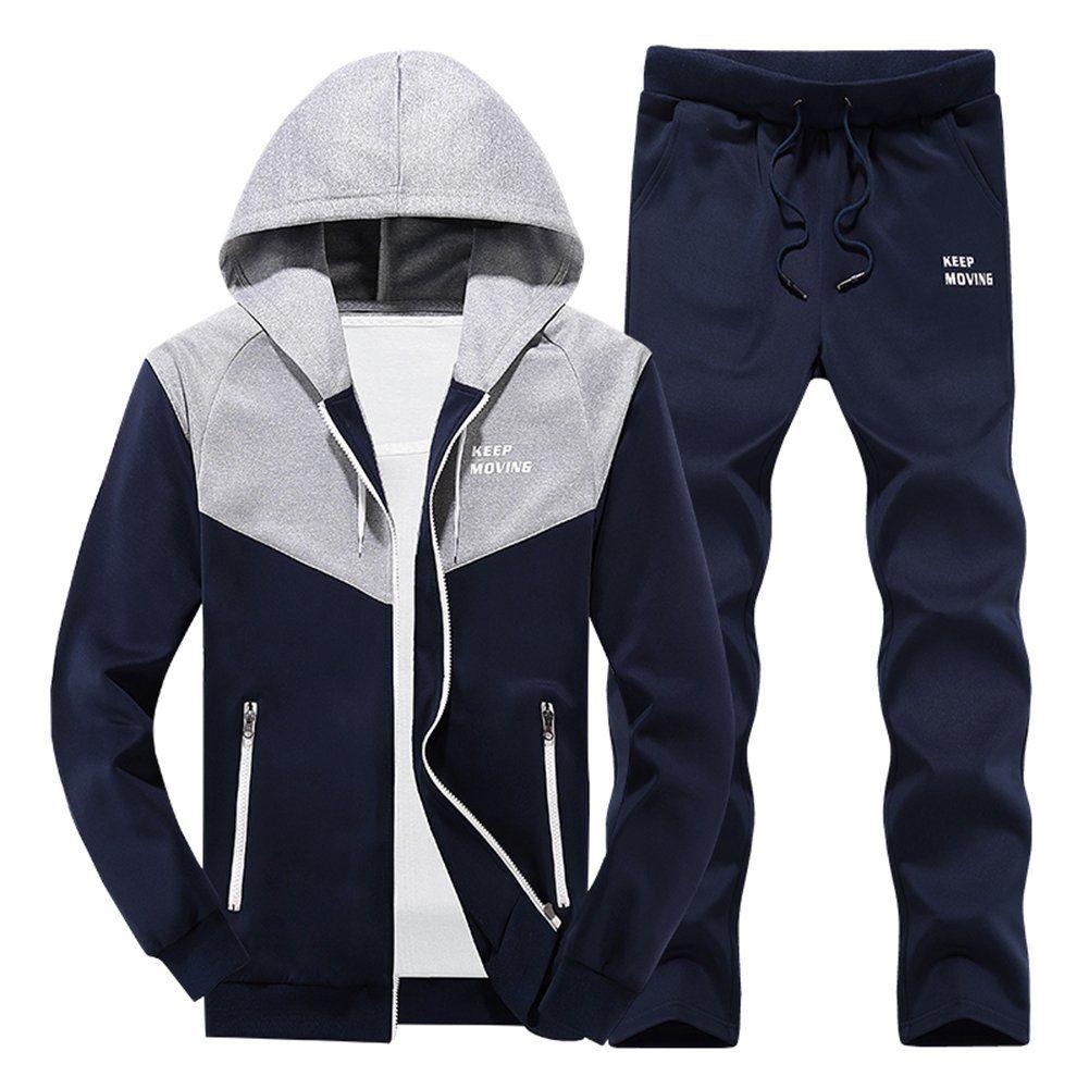 63174c9ee8f0 Zaquarius Men s Casual Hoodies Jogging Suits Sports Jacket Running Tracksuit  Medium. Materials  Polyester.