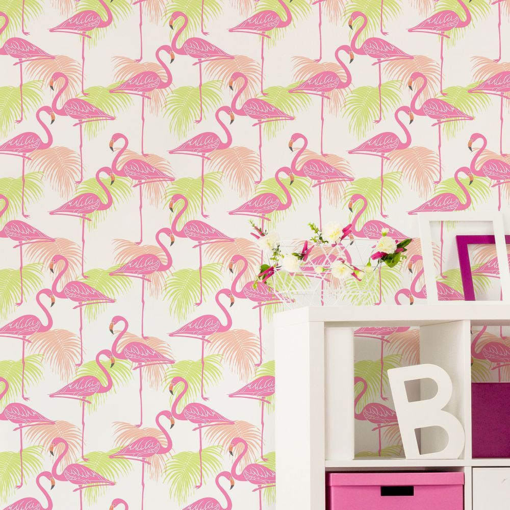 Kidz Flamingo By Albany Pink And Green Fd42213 In 2019